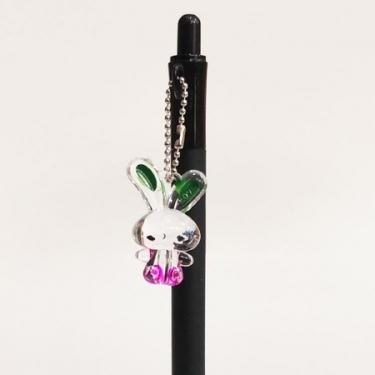 Siyah Kristal Tavşanlı Versatil Kalem
