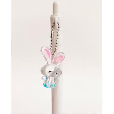Beyaz Kristal Tavşanlı Versatil Kalem