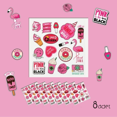 Flamingo 8'li Sticker Seti