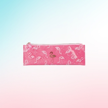 Sparkly Flamingo Pencil Case