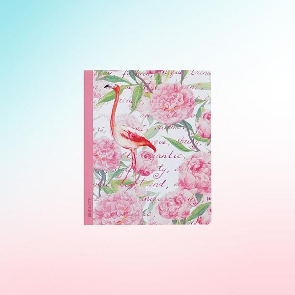 Flamingo-Kaktüs Çizgili Defter
