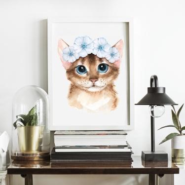 Çiçekli Kedicik
