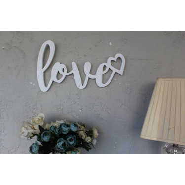 Love Beyaz Duvar Aksesuarı