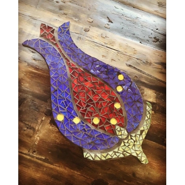 Mozaik Lale Tepsi