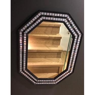 Siyah-Beyaz Mozaik Ayna