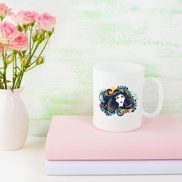 Brunette Girl Mug