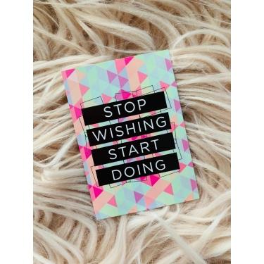 Stop Wıshıng Motto Kart