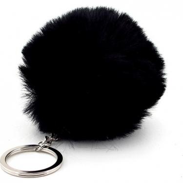 Mini Siyah Peluş Anahtarlık